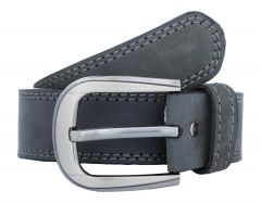 Exotique Men's Grey Casual Leather Belt (Code-bm0015GY)