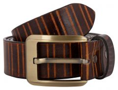 Exotique Men's Brown Casual Leather Belt (Code - BM0051BR)