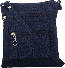 E retailer Women's Clothing - Exotique Women's Blue Sling Bag (CW0001BL)