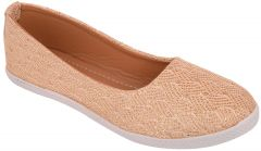 Exotique Women's Gold Ballerina Shoe(EL0038GO)