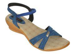 Exotique Women's Blue Casual  Sandal(EL0044BL)