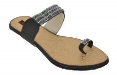 Exotique Women's Black Fashion Slip-on(EL0050BK)