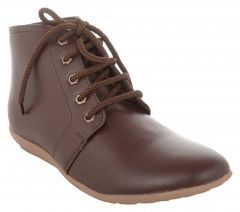Exotique Women's Brown Casual Boot (EL0051BR)