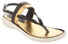 Exotique Women's Black/Gold Fashion Sandal(EL0057BK)