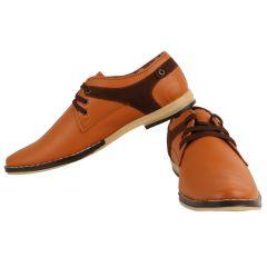 Exotique Tan Faux Leather Casual Shoes