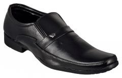 Exotique Men's Black Formal Shoes (Code-EX0048BK)