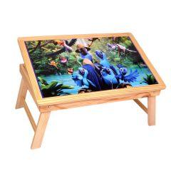 Skys&Ray lap top & Study tabel Rio bird image pine wooden