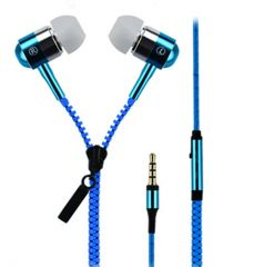 Spider Designs SD-55 Zip Bass Bomb Earphone With Mic (Blue)