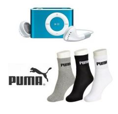 Men's Accessories - Buy Puma Socks And Get MP3 Player Free