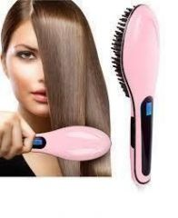 Fast Hot Hair Straightener Comb Brush Lcd Screen Flat Iron Styling - Personal Care