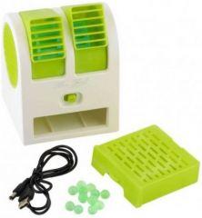 Newvez Portable Mini Air Conditioner Dual-port Bladeless USB Fan