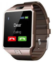 Cubee Dz09 Bluetooth Smart Wrist Watch Mobile Phone With Sim Slot,camera And Android Ios Connectivity - Gold