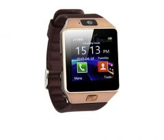 Totu Dz09 Bluetooth Smart Wrist Watch Mobile Phone With Sim Slot,camera And Android Ios Connectivity - Gold