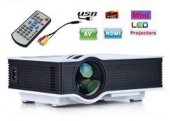 Projectors - VIZIO UC46 Mini Portable HD LED Home Theater Cinema Projector with 1200 Lumens