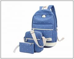 Aeoss Women School Bag College Wind Women's Backpack Canvas Fashion Bag Set of 3 Bag