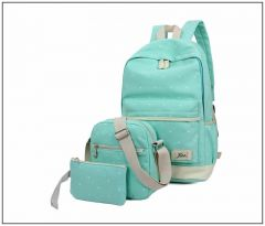 College Bags - Aeoss Women School Bag College Wind Women's Backpack Canvas Fashion Bag Set of 3 Bag