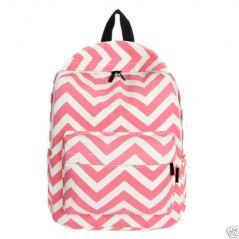 Aeoss Preppy Style Women Backpack Bags Double-Shoulder Sweet Stripe Canvas Travel Bag