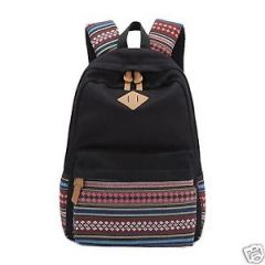Aeoss Causal Style Canvas Laptop Backpacks Shoulder Bag School Bag Aztec Triba Print