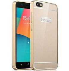 Aeoss Huawei Honor 4X Case, Aeoss Aluminum Metal Bumper Frame Case With Acrylic Back Cover For Huawei Honor 4X - GOLDEN