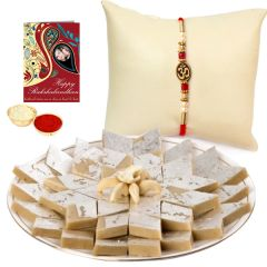 Amazing Gift of  Trendy Rakhi and Kaju Katli for USA