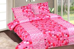 Royal Choice Baby pink Cotton Double Bedsheet Alongwith Two Pillow Covers