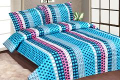Royal Choice Multi colour Cotton Double Bedsheet Alongwith Two Pillow Covers