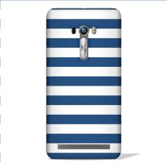 Leo Power Blue Stripe Printed Case Cover For Asus Zenfone Selfie