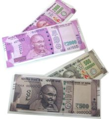 KSR eTrade 2000 and 500 Rupees Note Currency Printed Design Wallet