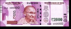 New Indian 2000 Rupee Note Currency Design Wallet / Purse.-01