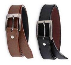 Pack Of 2 Italian Leather Men's Belt