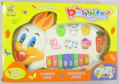 Piano With Musical Voices Rabbit Shape For Kids