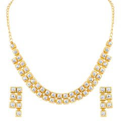 ShoStopper Pretty Gold Plated Necklace Set (Code - SJ2039NB300)