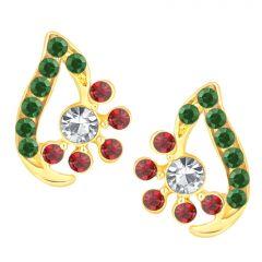 Earrings (Imititation) - Shostopper Pleasing Gold Plated Australian Diamond Earring SJ6070EN