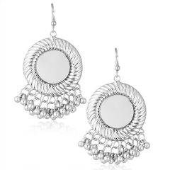 Shostopper Afghani Round Oxidised Mirror Earrings ( Code - SJ6126EN200 )