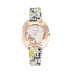 Shostopper White Dial Butterfly Analogue Watch For Women ( Code - SJ62079WWV550 )