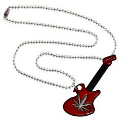 Men Style New Arrival Hot Charm Red And Black Alloy Guitar Necklace Pendant For Men And Boys (Product Code - SPn001001)