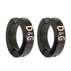 Men Style Black D&G inspired Fashion  Clip-on Earring - Er11021