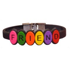 Men Style New Design Friendship Black Silicon Flat Bracelet For Men And Women - (Code - SBr06010)