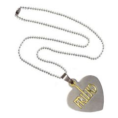 Men Style High Polished Friend Silver Gold Stainless Steel Heart shape Pendent For Men And Women - (Code - SPn06034)