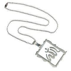 Men Style High Polished Laszer Cut Arabic Allah God Silver Stainless Steel Frame Pendant For Men And Women (Product Code - SPn08013)