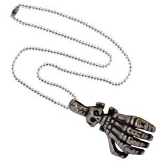 Men Style Skeleton Hand Skull Claw Retro Rocker Biker  Silver 316L Stainless Steel Hand Pendant For Men And Women (Product Code - SPn08042)