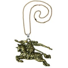 Men Style Fighting Soldier Guard on Runing Horse Jewellery Gold Zinc Alloy Animal Pendant For Men And Women (Product Code - SPn08052)