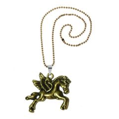 Men Style Horse Jewellery Pegasus Pendant Necklace, For Biker Mens  Gold Zinc Alloy Animal Pendant For Men And Women (Product Code - SPn08053)