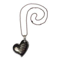 Pendants (Imitation) - Men Style New Design Female Symbol love Heart  Black Alloy Heart Pendant For Girls And Women (Product Code - SPn08067)