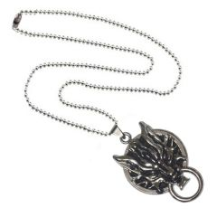 Men Style Twilight wolf head faucet Final Fantasy Silver Stainless Steel Animal Pendant For Men And Women (Product Code - SPn09003)