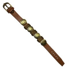 Men Style New Tone SBr09029 Brown Faux Leather Flat Bracelet  For Men And Women (Product Code -  SBr09029)