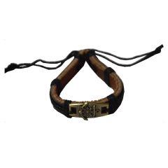 Men Style Anchor Cross Sailor Sea Tide Captain Black Leather Round Bracelet  For Men And Women (Product Code -  SBr09048)