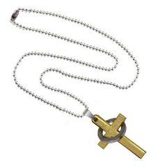 Men Style New Fashion Hot Selling Prayer Jesus Cross Ring  Gold Stainless Steel Christ Crucifix Christian Cross Pendant SPn09065)
