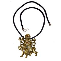 Men Style Eleghant Devotional Loard Durgha Maa SPn09077 Silver Alloy Pendant For Men And Women (Product Code - SPn09083)