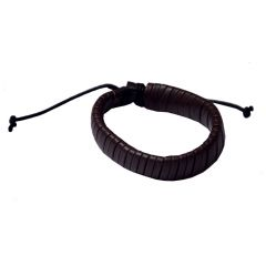 Men Style New Design  Brown  Leather Snake Bracelet For Men And Boy